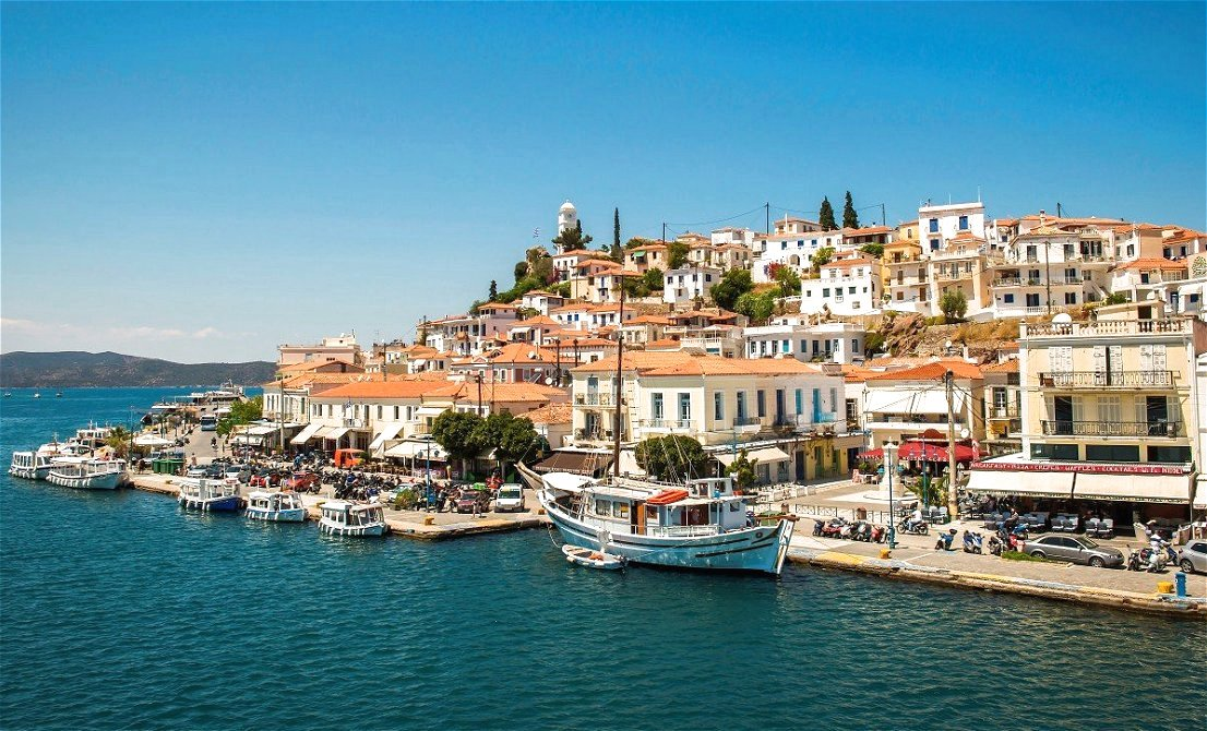 Poros island Greece - one-day cruise from Athens to 3 Greek islands - Athens one-day cruise - one-day cruise 3 islands Greece - Cruises in Greece - Greek cruises - Greek Travel Packages - Cruise Greek islands - Travel to Greek islands - Tours in Greece - Travel Agency in Greece