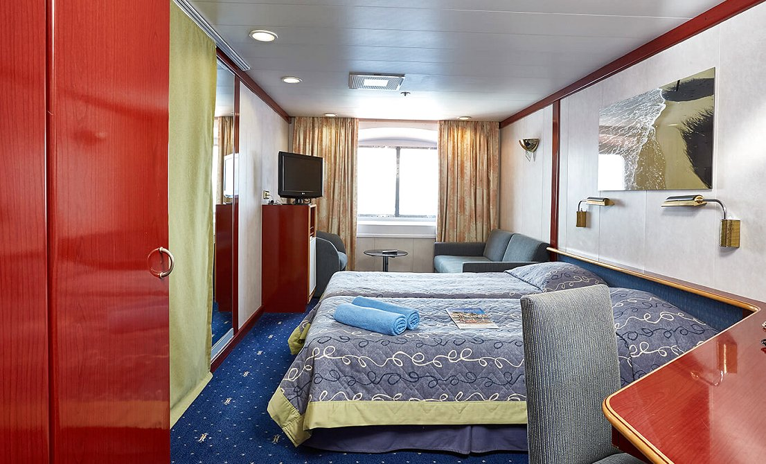 Celestyal Crystal - Categories XC and XD - Exterior Staterooms - 7-day cruise in Greece and Turkey - Cruises in Greece - Greek cruises - Greek Travel Packages - Cruise Greek islands - Travel to Greek islands - Tours in Greece - Atlantis Travel Agency in Athens Greece