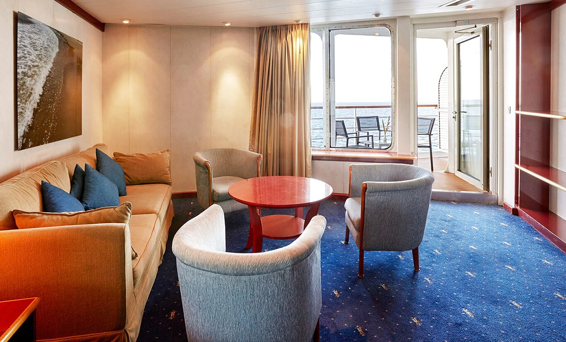 Celestyal Crystal - Category SB - Balcony Suite - 7-day cruise in Greece and Turkey - Cruises in Greece - Greek cruises - Greek Travel Packages - Cruise Greek islands - Travel to Greek islands - Tours in Greece - Atlantis Travel Agency in Athens Greece