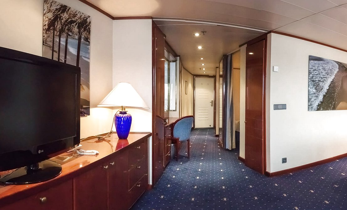 Celestyal Crystal - Category SG - Grand Suite with Balcony - 7-day cruise in Greece and Turkey - Cruises in Greece - Greek cruises - Greek Travel Packages - Cruise Greek islands - Travel to Greek islands - Tours in Greece - Atlantis Travel Agency in Athens Greece