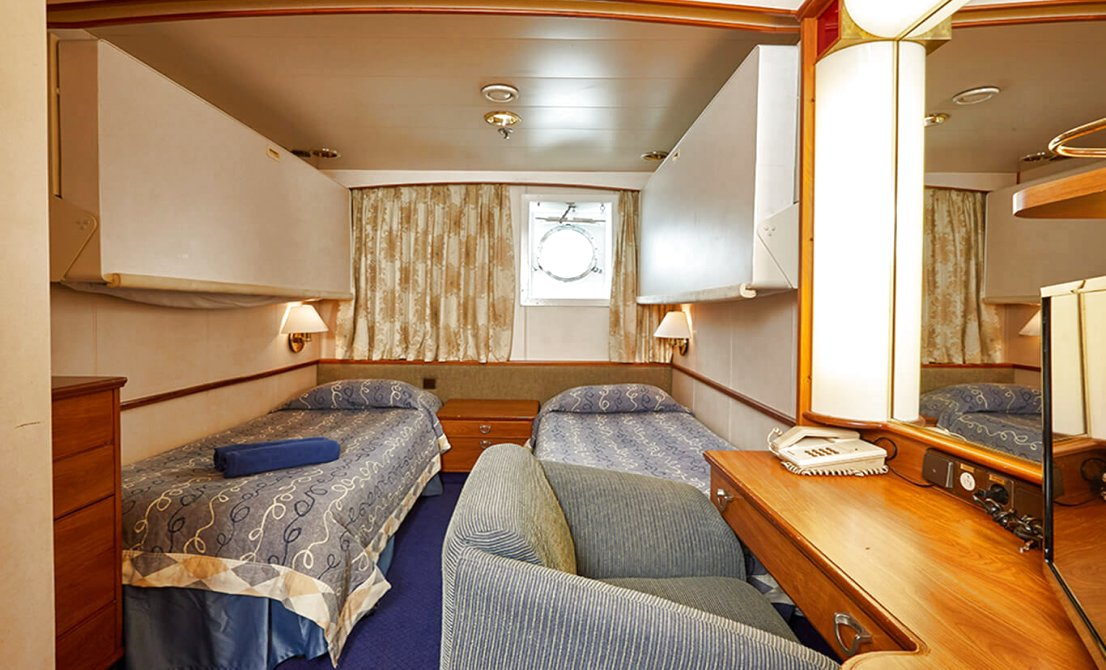 Celestyal Crystal - Category - XA Exterior Stateroom - 7-day cruise in Greece and Turkey - Cruises in Greece - Greek cruises - Greek Travel Packages - Cruise Greek islands - Travel to Greek islands - Tours in Greece - Atlantis Travel Agency in Athens Greece