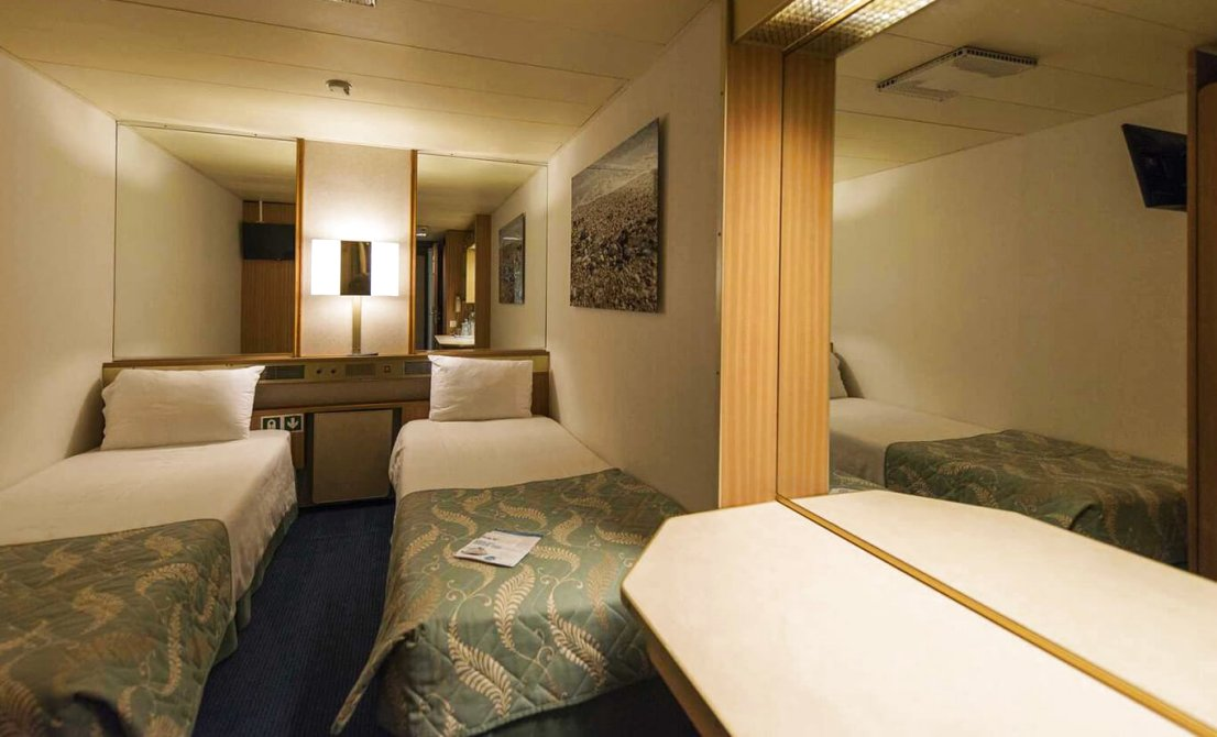 Celestyal Olympia cruise ship - Category IC - Interior Stateroom - short cruise in Greece and Turkey - Cruises in Greece - Greek cruises - Greek Travel Packages - Cruise Greek islands - Travel to Greek islands - Tours in Greece - Atlantis Travel Agency in Athens Greece