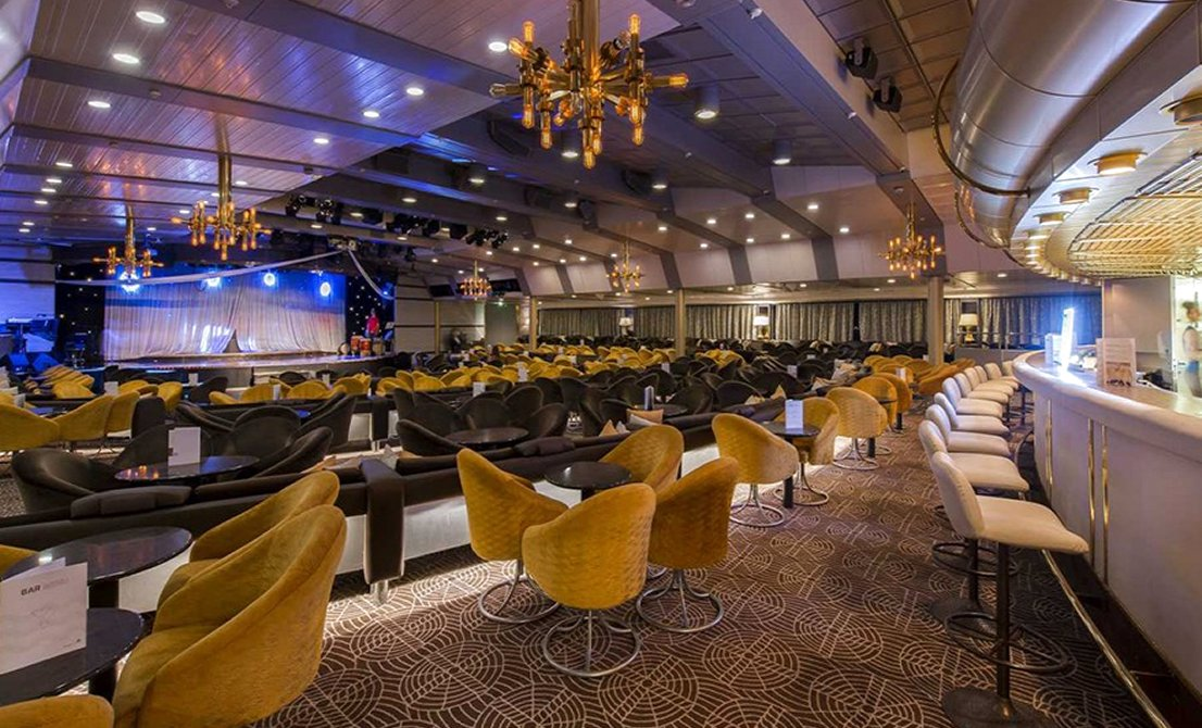 Celestyal Olympia - Muses Lounge Bar - short cruise in Greece and Turkey - Cruises in Greece - Greek cruises - Greek Travel Packages - Cruise Greek islands - Travel to Greek islands - Tours in Greece - Atlantis Travel Agency in Athens Greece