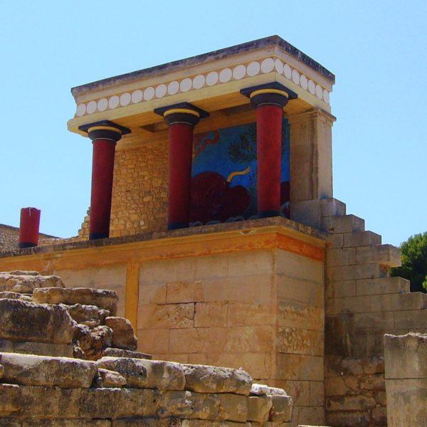 Knossos Heraklion Crete Greek island - Cruises in Greece - Greek cruises - Greek Travel Packages - Cruise Greek islands - Travel to Greek islands - Tours in Greece - Travel Agency in Greece