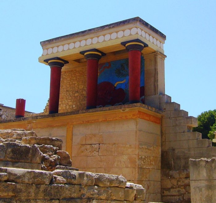 Knossos Heraklion Crete Greek island - Cruises in Greece - Greek cruises - Greek Travel Packages - Cruise Greek islands - Travel to Greek islands - Tours in Greece - Travel Agency in Greece