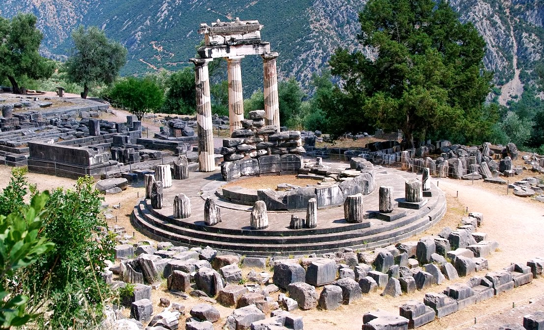 Delphi Tholos of Athena Pronea - ancient Delphi Greece - Greek Travel Packages - Greek tours - Travel to Greece - Tours in Greece - Travel Agency in Greece