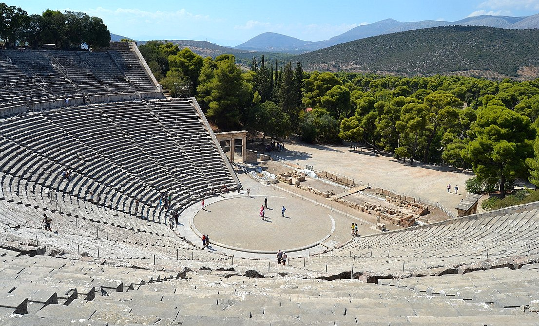 Epidaurus ancient theater - full-day tour to Argolis - Epidaurus Mycenae Nafplion - Corinth Canal- Greek Travel Packages - Travel to Greece - Tours in Greece - Travel Agency in Greece