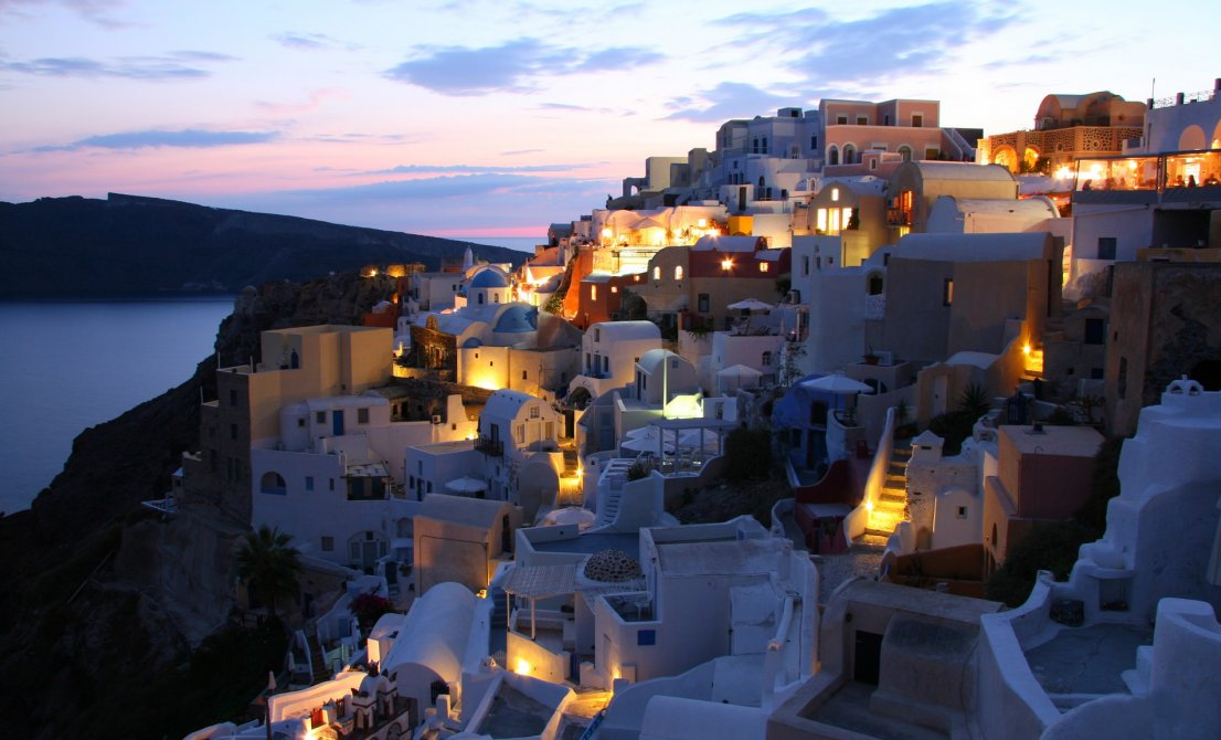 Santorini Greece - caldera by night - Cruises in Greece - Greek cruises - Greek Travel Packages - Cruise Greek islands - Travel to Greek islands - Tours in Greece - Atlantis Travel Agency in Greece