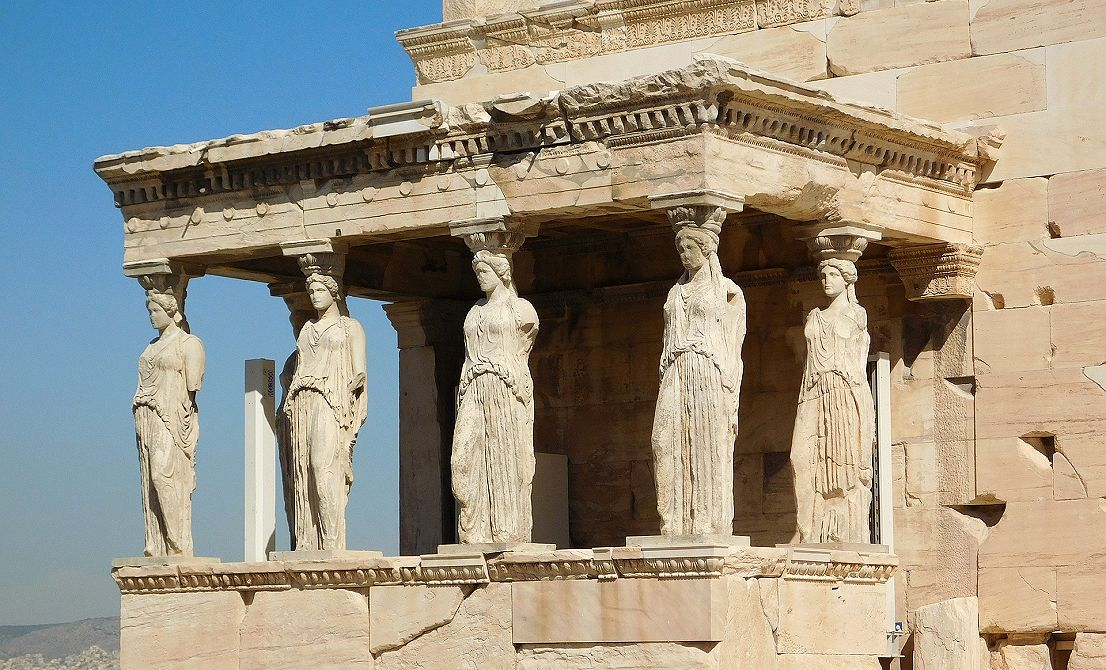 The Caryatides in Acropolis - Athens