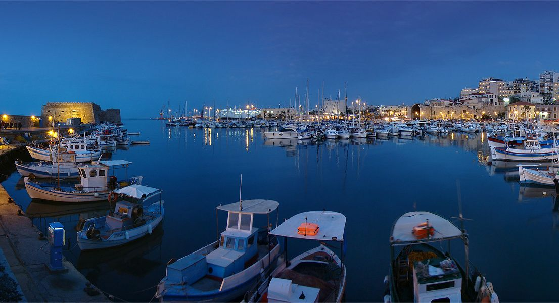 Heraklion old port - Crete island Greece - Cruises in Greece - Greek cruises - Greek Travel Packages - Cruise Greek islands - Travel to Greek islands - Tours in Greece - Travel Agency in Greece