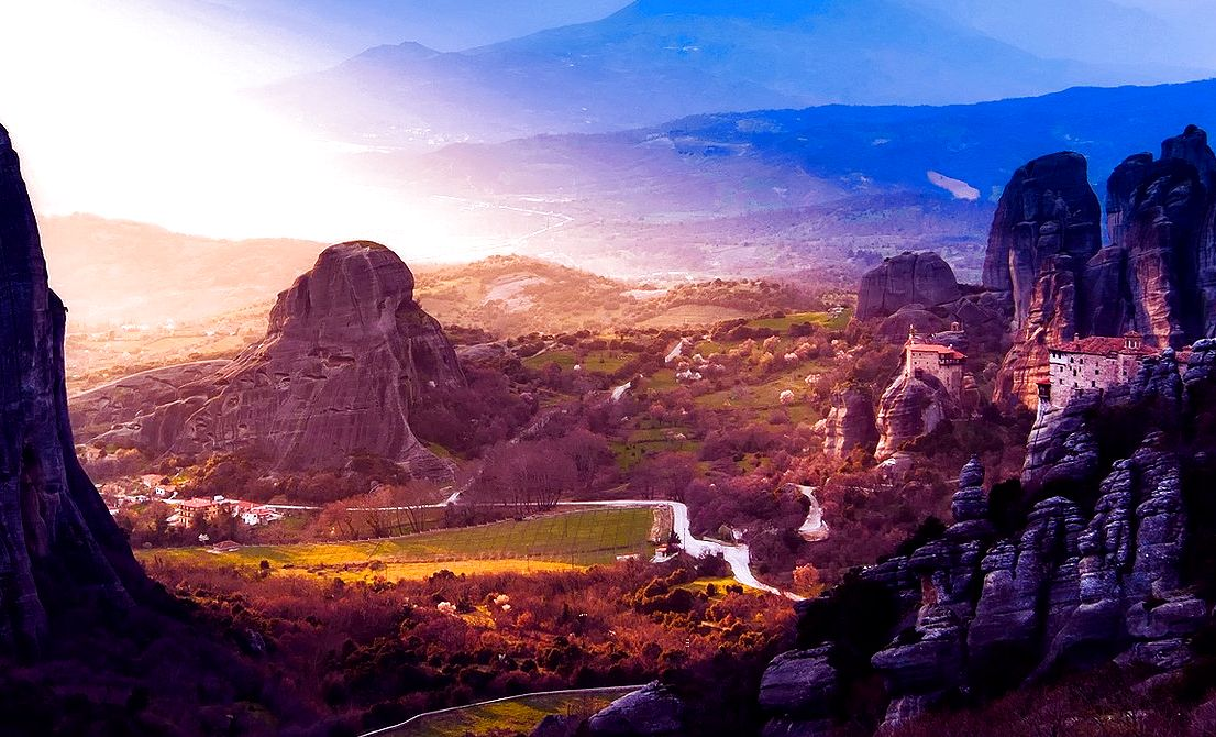 Meteora majestic rocks Greece - Meteora tours - Tours in Meteora monasteries Greece - Greek Travel Packages - Travel to Meteora Greece - Tours in Greece - Travel Agency in Greece