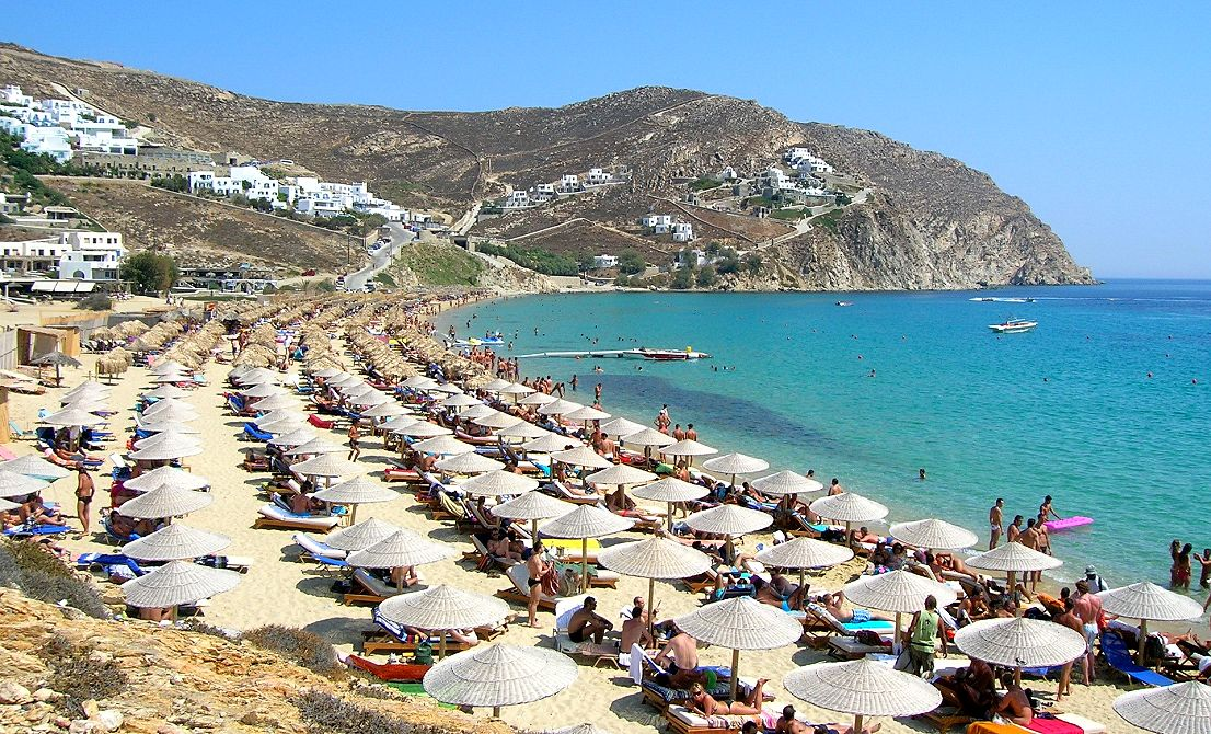 Mykonos beach - Cruises in Greece - Greek cruises - Greek Travel Packages - Cruise Greek islands - Travel to Greek islands - Tours in Greece - Travel Agency in Greece