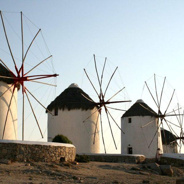 Mykonos windmills - Cruises in Greece - Greek cruises - Greek Travel Packages - Cruise Greek islands - Travel to Greek islands - Tours in Greece - Travel Agency in Greece