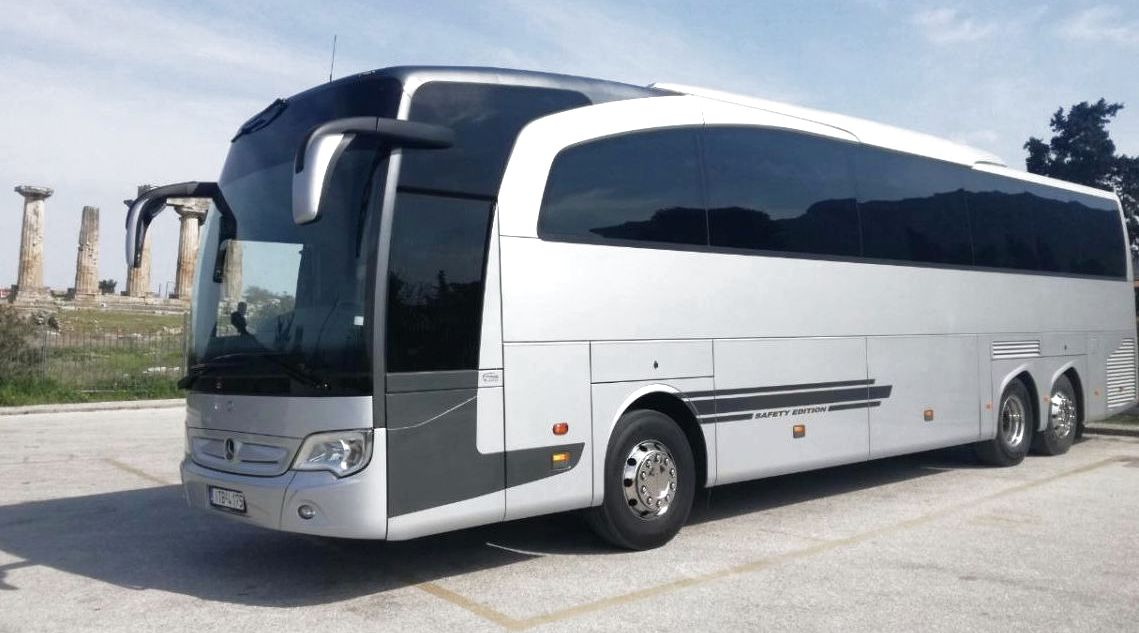 Transfers in Athens Greece by a modern coach - Athens transfers - Transfers and Tours in Greece - Greek transfers and tours - Athens coach service - Athens transportation service - Athens bus service - Greek travel packages - Atlantis Travel Agency in Athens Greece